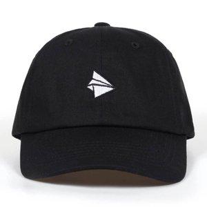 종이 비행기 자수 야구 모자 남자 여자 여름 조정 가능한 면화 아름다운 아빠 모자 힙합 Snapback 모자 모자 뼈 Garros
