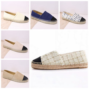 Espadrilles Women Designer Casual Shoes Luxury Leather Slip On Platform Shoes Men Espadrilles Sandals With Box Size 34--42 Top Selling