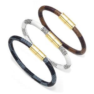 2020 recién 23 Parejas cuero genuino del estilo de la raya magnética pulsera hebilla brazalete de la joyería de lujo de la pulsera de las mujeres pulseras regalo de los hombres