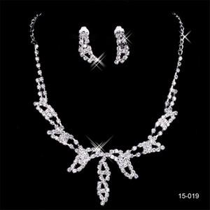 15,019 디자이너 섹시한 다이아몬드 귀걸이 목걸이 파티 댄스 파티 정장 웨딩 보석 세트 신부 액세서리 무료 배송 증권