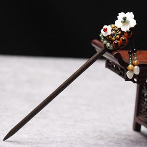 Antike Kostüm Haarspangen Vintage Haarschmuck Step shake Traditionelle Chinesische Kleidung Haarschmuck Holzkopfschmuck