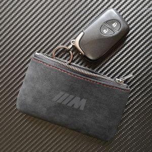 ماتي شعار حامل الجلود مفتاح مع حقيبة كيس المفاتيح حالة تغطية m سلسلة المفاتيح بي ام دبليو محفظة btbeq
