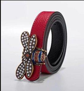 2020.Fashion abelha luxo fivela de cinto de moda masculina designer de estilo europeu, de high-end de couro cinto marca cintos cinto mens designer de Cintura mens beltl
