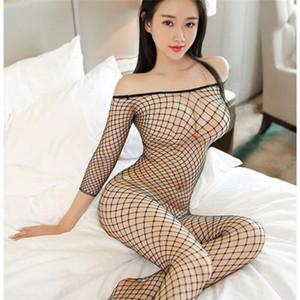 Cosplay atractiva de los trajes de malla transparente Porno peluche de la muñeca erótica ropa interior atractiva de las mujeres más el tamaño de la ropa interior del sexo