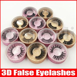 3D Поддельный норка Ресницы Ложные норка Ресницы 3D Silk Protein Lashes 100% ручной работы Природные Поддельные Eye Lashes с подарочной коробке