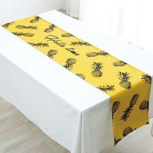 Pineapple Zebra Pattern Table Runner Table Flag Hotel Home Festival Party Decoration
