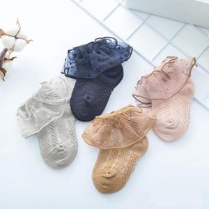 Lace Calze bambino sottile di estate Princess Tutu calza di cotone traspirante Lace Ruffle calzini infantili della caviglia Breve principessa calzini calda estate YPP229