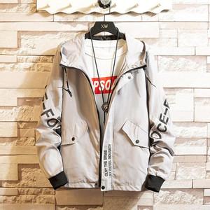 Fashion men's hooded jacket trend large size spring and autumn thin coat jacket new men's clothing size M-8XL-1