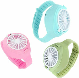 USB Fan Watches Creative Charging Fans Portable Children Fan Practical Durable Mini Fans Student Gift