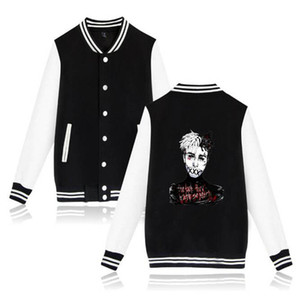 Xxxtentacion Jacket Hip Hop Collage Style Long Sleeve Baseball Jackets Men Fashion Printed streetwear Bomber Jacket Xxxtentacion