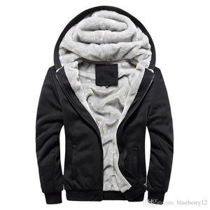 Mens Hoodie Coat Winter Warm Fleece Zipper Sweater Jacket Outwear Coat Top 4 Colors Asian Size M-5XL