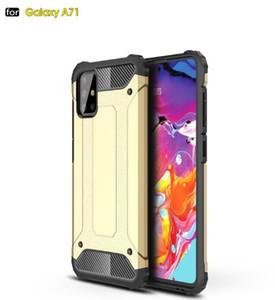 Ibrida dura della TPU per Samsung Galaxy A01 A21 A51 A71 A81 A91 S20 plus ultra MOTO G8 Potenza G8 Giocare ShockProof pelle della copertura 1pcs di lusso