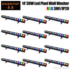 Sconto 12 unità 14x30W alto potere del progetto a lungo Distanza non miscelazione impermeabile Led Wall Washer luce RGB 3in1 barra di colore LED