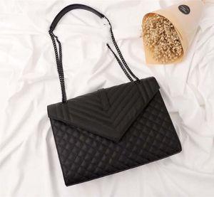 Últimas clássico Bolsas Couro Mulheres Ombro Cadeia de embreagem bolsa bolsa de lona Messenger Bag Bandoleira Bolsa de compras Totes