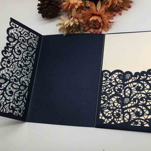 Hollow Laser Cut Exquisite Design Wedding Invitations Cards Valentine's Day Birthday Party Business Invitations Supplies Invitation Cards