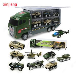 1:64 Diecast Model Car giocattolo dell'elicottero Big Truck 10PCS auto in lega veicolo Simulazione veicolo militare per dei ragazzi dei bambini i regali}
