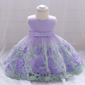 2020 2020 Flower Girl Dress New Baby Summer Tutu Wedding Birthday Party Kids Dresses Prom Designs Fresh Three Dimensional Flower 1 3 F Y56D#
