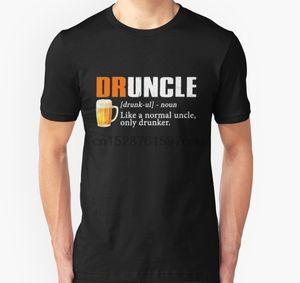 Les hommes tshirt Druncle shirt drôle cadeau pour oncle bière amant T-shirt imprimé tees T-shirt haut