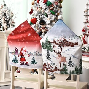 Fashion 3D Printed Chair Covers Classic Creative Festive Party Home Decoration Restaurant Chair Set Indoor Christmas Decor