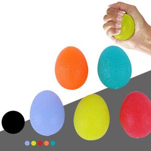 Poignées professionnelle Massage des mains Gripper Egg Shape Relief souple en silicone Power Ball Fitness poignet Outils d'exercice Finger En stock 2TC E19