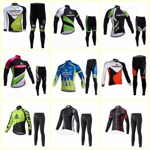 2019 MERIDA team Cycling long Sleeves jersey pants sets New Quick-Dry Bike thin Strap summer bike clothes Sportwear U60908