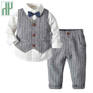 Kids Boys Clothes Stripe Suit Toddler Children's Clothing Fashion Baby Tracksuits Formal Boutique Kids Dresses for Boys Outfits