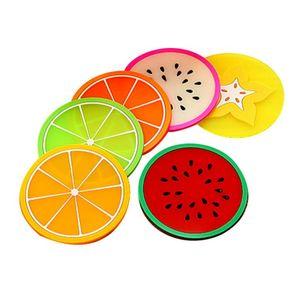 Gadgets de cuisine Coaster Coupe du silicone style créatif Fruit résistant à la chaleur napperon Fruit Mignon Boisson Table Mat Accessoires de cuisine