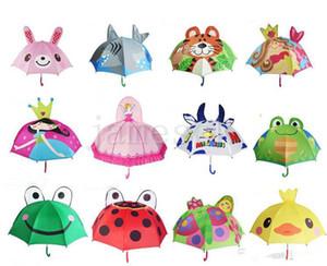 13 Styles Lovely Cartoon Design Ombrello per bambini di alta qualità 3D Opzionale Function Umbrella Light per Rain Sun 47CM * 8K D126