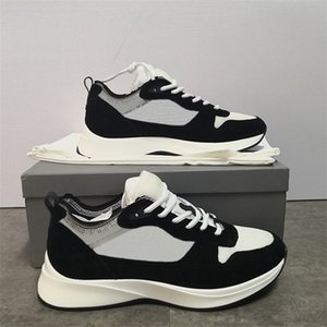 Üst Kalite Erkek Tasarımcı Sneakers Siyah Gri B25 Eğik Runner Ayakkabı Vintage Platformu Gerçek Deri Erkekler Eğitmenler Beyaz Açık Ayakkabı