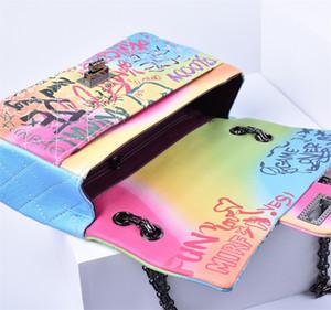 Mini tamaño perfecto Graffiti Rainbow Bag envío gratis Bolsos de lujo para mujer Bolsos de mujer Diseñador Lady Crossbody Bolsos de hombro superventas111