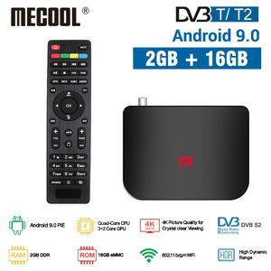 MECOOL M8S Plus DVB T T2 DVB S S2 2G 16G Android 9.0 TV Box Amlogic S905X2 4K H.265 2.4G WiFi Set Top Box