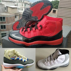 Новый Jumpman 11 XI Белый цемент 3D красочные Мужская Уличная Обувь Спортивный дизайнер Кроссовки высокого качества дешевые мужские кроссовки красный Скидка