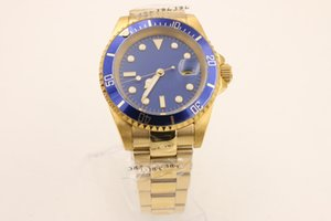 Gold 2813 Top Ceramic Bezel Mens Mechanical Stainless Steel Automatic Movement Watch Sports Self-wind Watches Wristwatch
