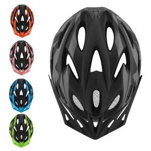 خفيفة الدراجات خوذة مع ضوء الذيل القابل للإزالة قناع الدراجة الجبلية الوعرة ركوب خوذة السلامة قابل للتعديل