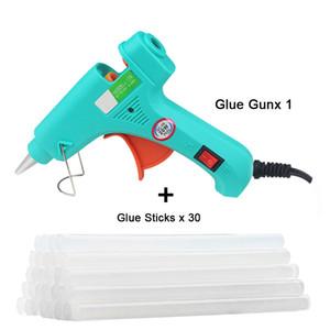 Hot colle Melt pistolet à colle bâton Mini Guns thermoélectriques chaleur Température outil de travail pour bois bâton papier Hairpin PU Fleurs