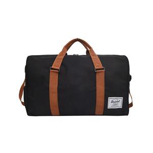Men women Black Travel Bag high quality canvas Shoulder Bag Women Handbag Ladies Weekend Portable Duffel Waterproof Wash