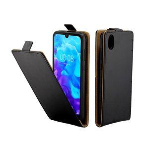 Business Case in pelle per Huawei Y5 2019 Casi Coque verticale della copertura di vibrazione con la carta di sacchetti del telefono mobile per Huawei Honor 8S