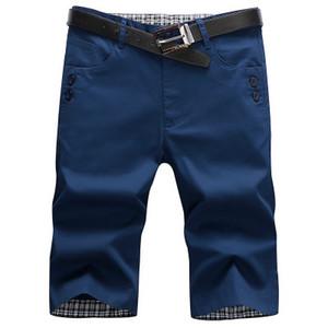 Hommes d'été Mode Shorts Coton Slim Bermuda Masculina shorts de plage Joggers Pantalons Longueur genou Pantalon Homme court