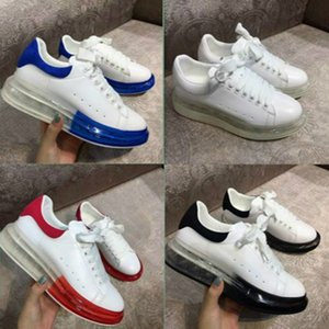 2020 New Season Designer Luxury Mens Casual Shoes Clear Sole Trainers Red Yellow Pink Transparent Crystal Bottom Flats Men Women Sneaker VA7