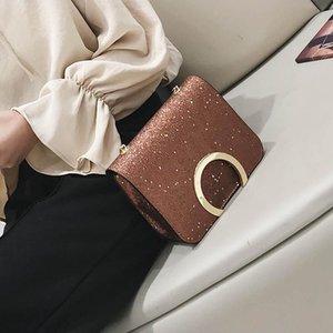Moda Shoulde do Designer-SWDF Ins Mulheres 2019 do Women Fashion Designer de luxo Praça Bag lantejoulas Crossbody Bag menina cadeia de embreagem