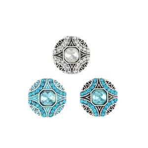 Moda pulsante a scatto economici 18mm colori del fiore placcato gioielli di strass braccialetto fai da te accessorio