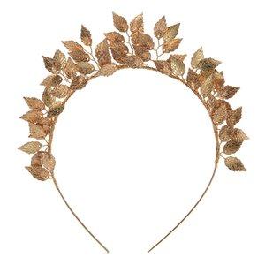 ТУАНМИН лист цветок кольцо обруч Корона золото серебро оголовье невесты головной убор цветок головной убор свадебные головные уборы свадебные украшения для волос C18112001