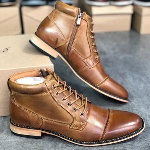 상자 US12와 사이드 패션 남성 신발 파티 결혼식 신발에 우편 번호와 디자이너 마틴 부츠 남성 발목 신발 서부 카우보이 부츠