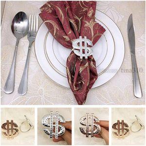 Moda Altın, gümüş, Yeni peçete Yüzük Western Restaurant Peçete Dekorasyon Halka T9I005 toka altın metal peçete gül