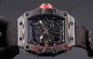 Mens Superlative Mountaineering racing RM35-02 Striscia in fibra di carbonio fascia nera giapponese Miyota 9015 Orologi movimento automatico