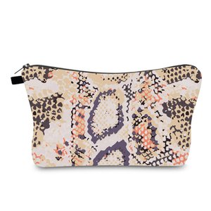 Serpentine Muster Womens Cosmetic Bag Fashion Make-up Taschen Kosmetik Behälter für Reisen Damen-Beutel-Frauen-Hand