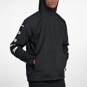Mens Designer Vestes Marque Sport Coupe-Vent Lettre Imprimer Zipper Manteau Casual En Gros Survêtement Active Running Jacket JN52019