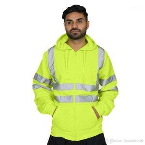 Jacket Orange Sports Cardiagn Coats Hooded Zipper Jackets Mens Reflective