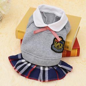 Moda Dog roupa da escola Terno Roupas Pet para o traje Primavera Shirt Small Dog Sweater filhote de cachorro Jersey Dog Dress Fornecimento