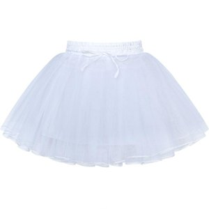Girls Hoopless Petticoat Flower Girl Crinoline Underskirt Wedding 2020 Summer Princess Party Dresses Kids Clothes Pageant